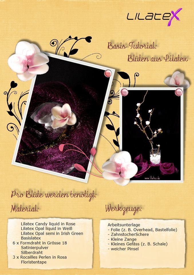 Blütenzweig aus Latex Bild 1