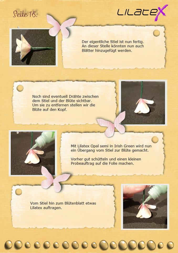 Blütenzweig aus Latex Bild 18