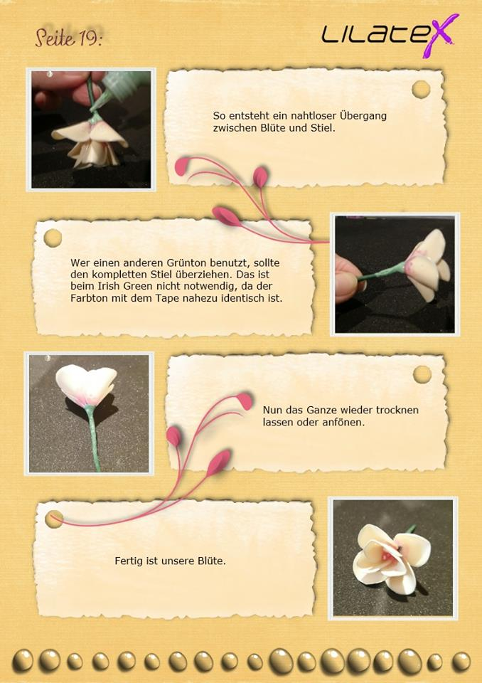 Blütenzweig aus Latex Bild 19