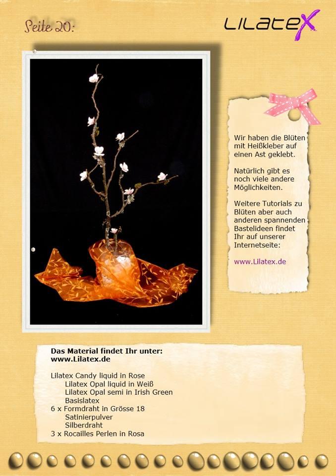 Blütenzweig aus Latex Bild 20
