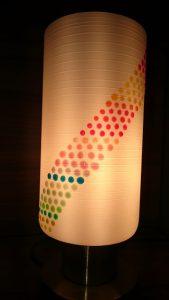 Nachttischlampe mit Latex